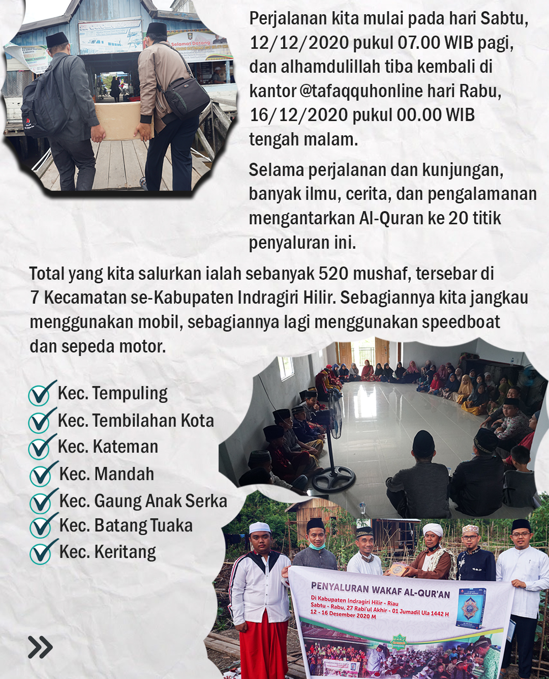Menyambung Cinta Dengan Al-Quran (Laporan Penyaluran Wakaf Al-Quran ke Kab. Indragiri Hilir, Riau)